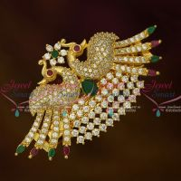AD Fashion Jewellery Peacock Stylish Small Hair Clip Women's Matching Accessory Buy Online