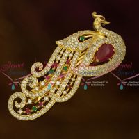AD Dazzling Imitation Jewellery Peacock Hair Clip Women's Matching Accessory Buy Online