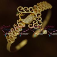 AD Bangle Type Vanki Multi Colour Stones Latest Bridal Jewellery Collections Online