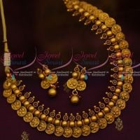 Floral Coin Necklace Beads Design Red Stones Latest Antique Jewelry Collections Online