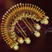 Bahubali Style One Gram Hair Jewellery Rakodi Yellow Gold Plated Traditional Bridal Accessory Intricate Work For Women Online