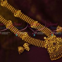 Gold Design Beads Haram Nakshi Peacock Pendant Exclusive Imitation Jewellery Online