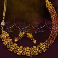 Ruby Green AD Lakshmi God Design Matte Nakshi Nagas South Traditional Temple Jewellery Online