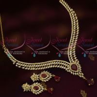 Marquise AD Stones Dazzling Jewellery Set Delicate Fixed Shape Latest Design Shop Online