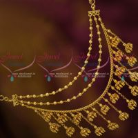 Bahubaali Movie Devasena Style Earchains Maatil Jhumka Drops Gold Plated Jewellery Shop Online