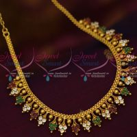AD Multi Colour Stones Simple Casual Wear Jewellery Shop Online