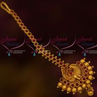 South Indian Jewellery Matte Finish Nethichutti Peacock Design Stylish Collections Online