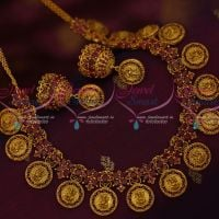 Lord Ganesh Vinayagar Ruby Stones Broad Gold Inspired Jewellery Temple Designs Shop Online