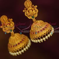 Temple Laxmi God Design Multi Colour Stones Similar Nithya Menon Mersal Movie Jewellery