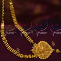 South Indian Gold Covering Jewellery Fancy  Short Necklace Daily Wear Collections