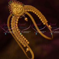 South Indian Traditional Temple Aravanki Latest Matte Finish Bridal Jewellery Red Green Stones Shop Online