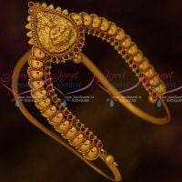 South Indian Traditional Temple Peacock Aravanki Latest Matte Finish Bridal Jewellery Red Green Stones Shop Online