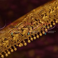 South Indian Traditional Oddiyanam Latest Nagas Jewellery Matte Dull Reddish Gold Jewellery Shop Online