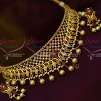 AD Multi Colour Low Price Flexible Design Choker Earrings New Fashion Jewellery Shop Online
