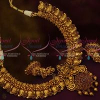 South Indian Traditional Mango Design Temple Pendant Jhumka Ruby Stones Jewellery Shop Online