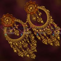 Bahubaali Movie Devasena Style Big Beads Danglers Earrings Antique Gold Plated Jewellery Shop Online