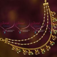 Bahubaali Movie Style Earchains Maatil Multi Colour Bead Drops Fashion Jewellery Shop Online
