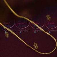 18 Inches Gold Plated Short Chain Daily Wear Fancy Designs Quality Imitation Jewellery Online