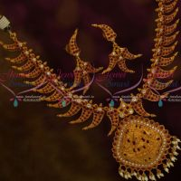 Exclusive South Traditional Kerala Style Temple Jewellery Ruby White Hand Setting Stones Shop Online