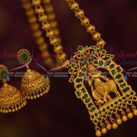 Lord Gopal Krishna Temple Antique Matte Finish Jewelry Emerald Hand Setting Collections Online