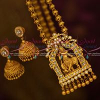 Lord Gopal Krishna Temple AD White Matte Finish Jewelry Hand Setting Collections Online
