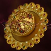 Traditional Kumkuma Chimizh Big Size Sindoor Box One Gram Gold Jewellery Shop Online