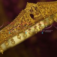 32-37 Inches Ruby Oddiyanam One Gram Gold South Indian Jewellery Nakshi Temple Vaddanam Shop Online