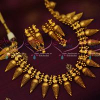 South Indian Traditional Jewelry Set Antique Gold Design Flexible Heavy Design Latest