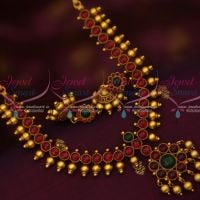 South Indian Traditional Jewelry Set Kemp Beads Design Jhumka Earrings Shop Online