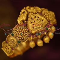 Temple Bridal Jewellery Gold Finish Matte Antique Vanki Belt Type Latest South Indian Collections Online
