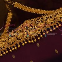 Traditional Oddiyanam Latest Nagas Jewellery Chain Belt Matte Dull Reddish Gold Shop Online