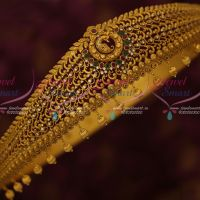 Matte Gold Plated AD Traditional Vaddanam Intricate Finish Bridal Jewellery Designs Shop Online
