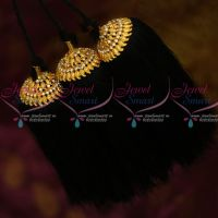 White Stones Mango Design Hair Kuppulu Jada Kunjalam Traditional Hair Jewellery Shop Online