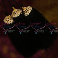 White Stones Design Hair Kuppulu Jada Kunjalam Traditional Hair Jewellery Shop Online