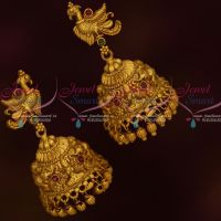 Peacock Design Temple Nagas Jimikky Earrings Traditional South Indian Matte Jewelry Shop Online
