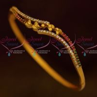 Antique Matte Finish Stylish Fashion Jewellery Bracelets Ruby Emerald Stones Online