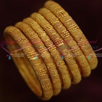 One Gram Gold Fashion Jewellery 6 Pcs Bangles Set Forming Ornaments Collections