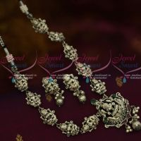 Antique Silver Plated Laxmi Nagas Temple Jewellery Traditional Blackish Ornaments Shop Online