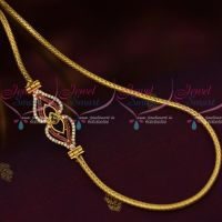 3 MM Gold Plated Jewellery Roll Kodi AD Multi Mugappu South Indian Designs Online