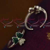 Green Enamel 92.5 Silver Antique Toe Rings South Indian Auspicious Jewellery Metti Shop Online