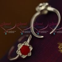 Pink Enamel 92.5 Silver Antique Toe Rings South Indian Auspicious Jewellery Metti Shop Online