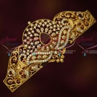 AD Gold Plated Fashion Jewellery Centre Hair Clip Women's Ruby White Accessory Buy Online