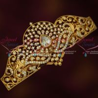 AD Gold Plated Fashion Jewellery Centre Hair Clip Women's White Accessory Buy Online