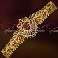 American Diamond Gold Covering Hair Clip Ruby White Stones Imitation Matching Jewelry Buy Online