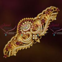 Gold Covering Sparkling Ruby White Stones Hair Clip Imitation Matching Jewelry Buy Online