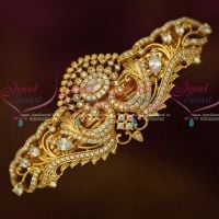 Gold Covering Sparkling White Stones Hair Clip Imitation Matching Jewelry Buy Online