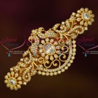Peacock Gold Covering Sparkling White Hair Clip Imitation Matching Jewelry Buy Online