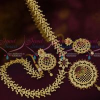 AD Jewellery Haram Low Price Delicate Designs Floral Sparkling Stones Bridal Wear Shop Online