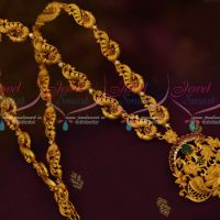 Multi Colour South Indian Jewellery Peacock Haram Matte Gold Plated Fashion Ornaments Online