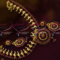 Ruby Stones Full Peacock Fashion Jewellery Latest Semi Precious Stones Collections Shop Online